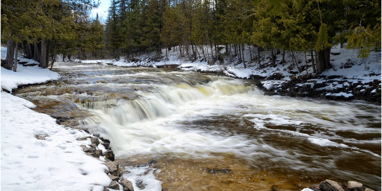 The gorgeous Ocqueoc Falls in the lower peninsula of Michigan