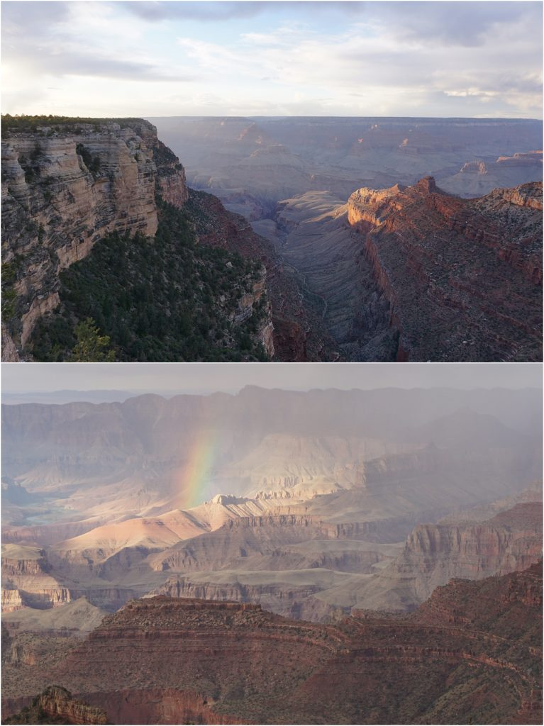 Beautiful spots in the Grand Canyon.