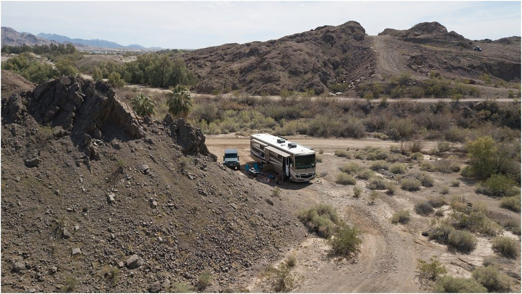 There are many places to stay in Arizona and this is photo of a great boondocking location.