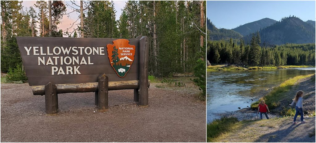 The west entrance of Yellowstone National Park